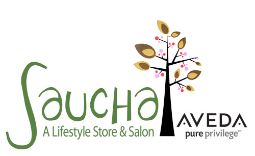 Saucha - A Lifestyle Store and Salon Tree Logo